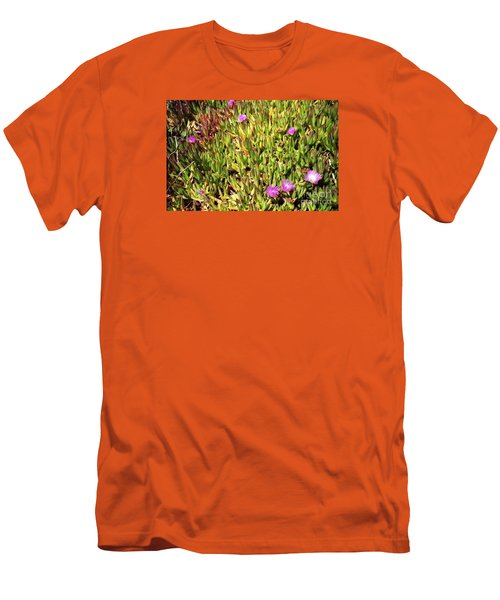 California Coast Ice Plant Men's T-Shirt (Athletic Fit)