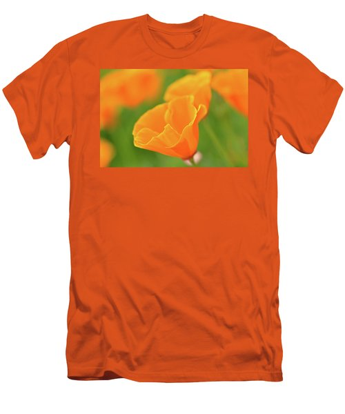California Spring Poppy Macro Close Up Men's T-Shirt (Athletic Fit)