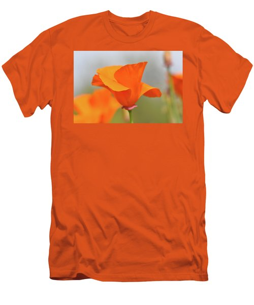 California State Poppy Macro Men's T-Shirt (Athletic Fit)