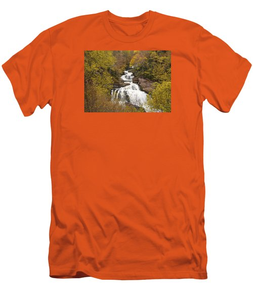 Callasaja Falls- North Carolina Men's T-Shirt (Slim Fit) by Penny Lisowski