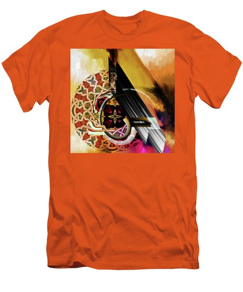 Men's T-Shirt (Slim Fit) featuring the painting Calligraphy 103 1 1 by Mawra Tahreem