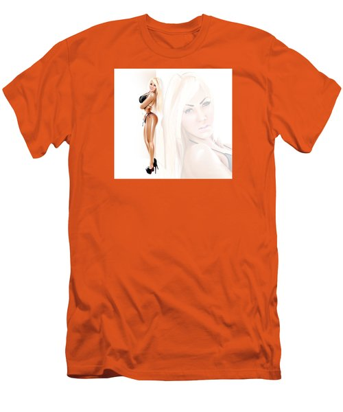 Men's T-Shirt (Slim Fit) featuring the drawing Callipygian Brazilian Aphrodite by Brian Gibbs