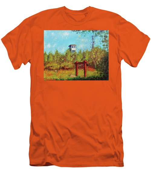 Camel Top Fire Tower Men's T-Shirt (Athletic Fit)