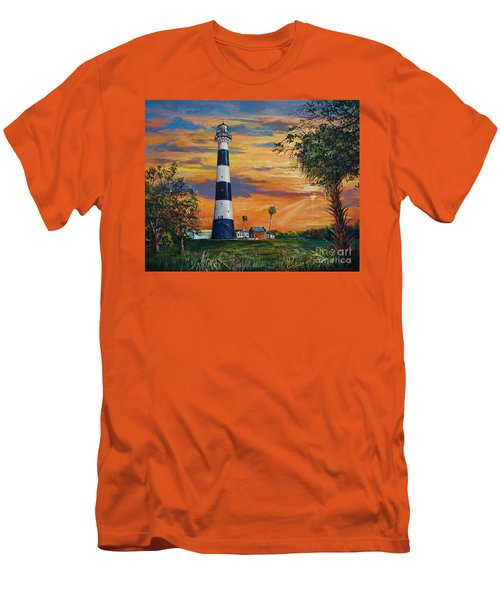 Men's T-Shirt (Slim Fit) featuring the painting Cape Canaveral Light by AnnaJo Vahle