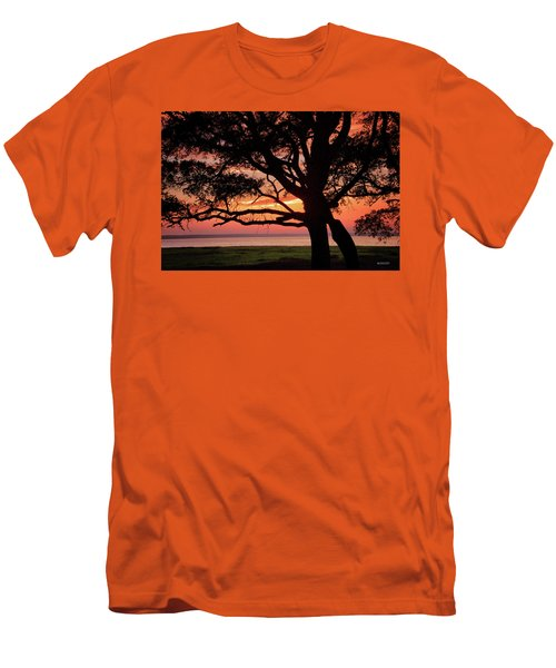 Cape Fear Sunset Overlook Men's T-Shirt (Slim Fit) by Phil Mancuso