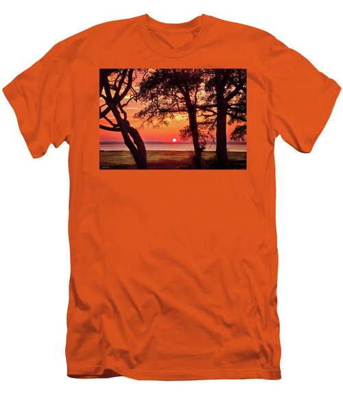Men's T-Shirt (Slim Fit) featuring the photograph Cape Fear Tranquility by Phil Mancuso