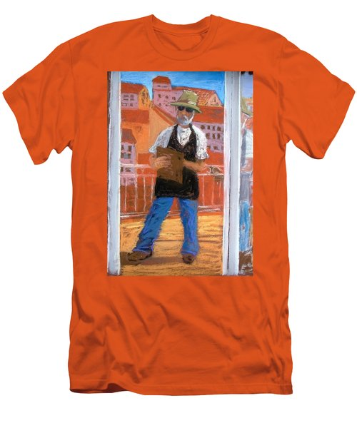 Men's T-Shirt (Slim Fit) featuring the painting Captured In Antibes by Gary Coleman