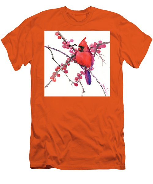 Cardinal And Berries Men's T-Shirt (Athletic Fit)