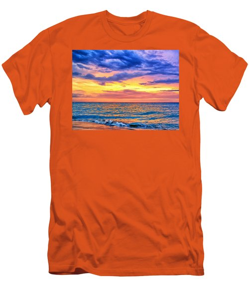 Caribbean Sunset Men's T-Shirt (Athletic Fit)