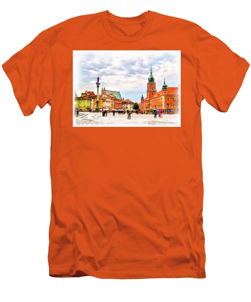 Castle Square, Warsaw Men's T-Shirt (Slim Fit) by Maciek Froncisz