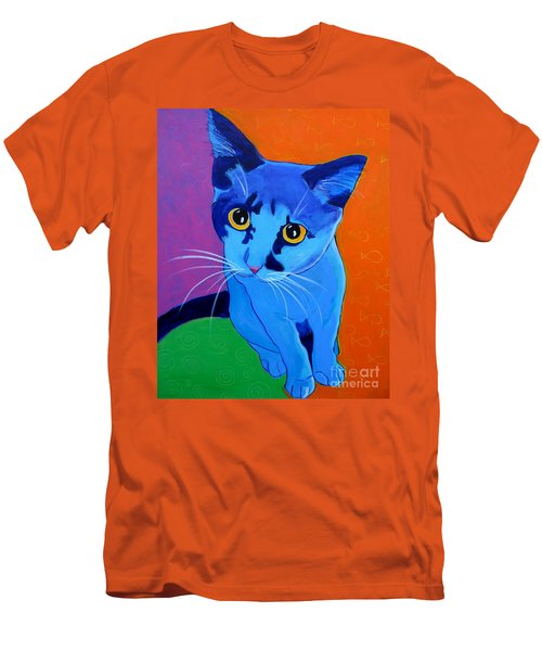 Cat - Kitten Blue Men's T-Shirt (Athletic Fit)