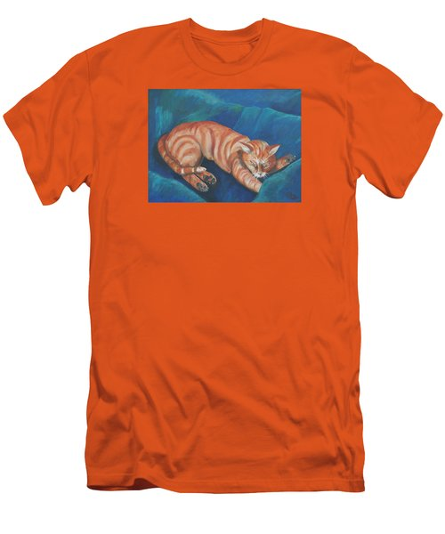 Cat Napping Men's T-Shirt (Slim Fit)