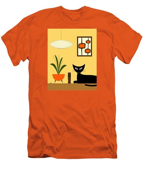 Cat On Tabletop With Mini Mod Pods 3 Men's T-Shirt (Athletic Fit)