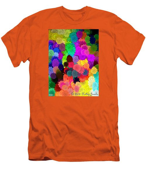 Men's T-Shirt (Slim Fit) featuring the painting Catcha Little Groove by Holley Jacobs