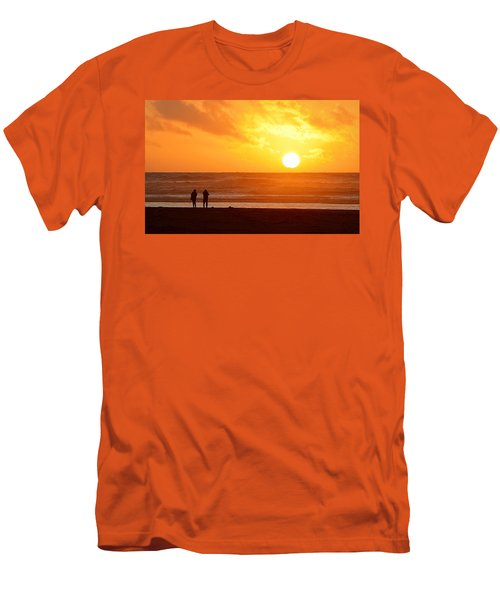 Catching A Setting Sun Men's T-Shirt (Slim Fit) by AJ Schibig