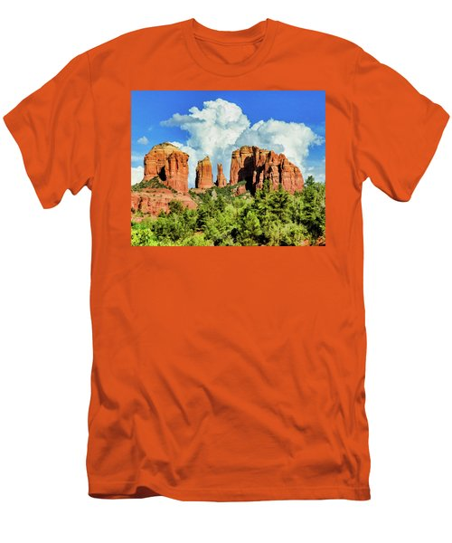 Cathedral Sed M 04-115 Men's T-Shirt (Slim Fit) by Scott McAllister