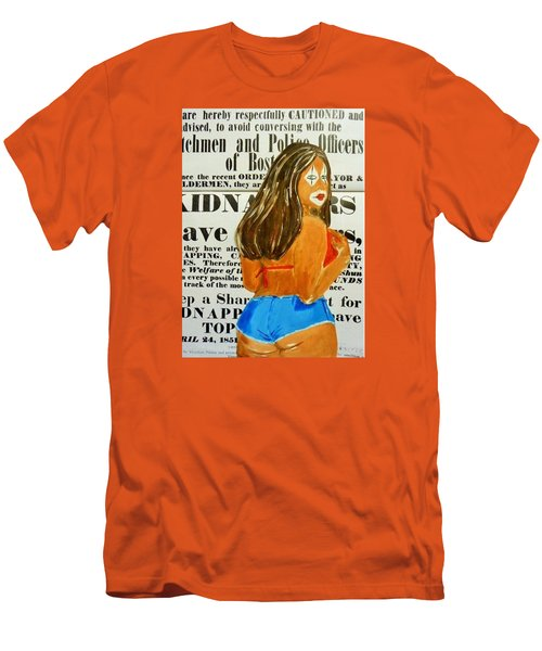 Cece Caution Men's T-Shirt (Slim Fit) by Deedee Williams