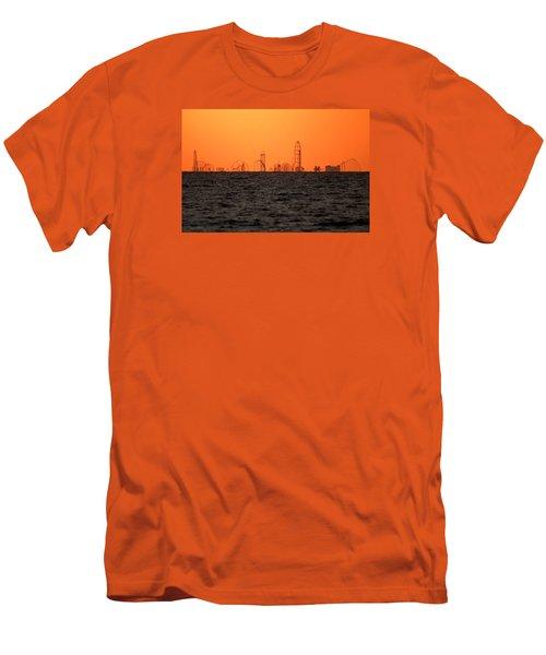 Cedar Point Skyline Men's T-Shirt (Slim Fit) by Rob Blair