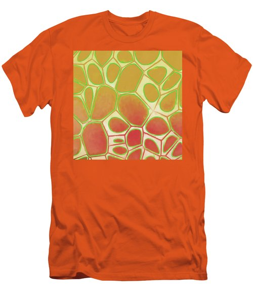 Cells Abstract Five Men's T-Shirt (Slim Fit) by Edward Fielding