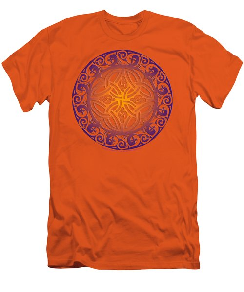 Men's T-Shirt (Slim Fit) featuring the mixed media Celtic Shield by Kristen Fox