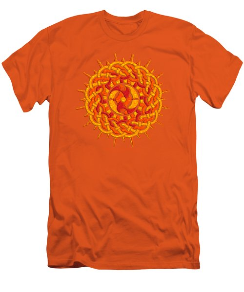 Men's T-Shirt (Slim Fit) featuring the mixed media Celtic Sun by Kristen Fox