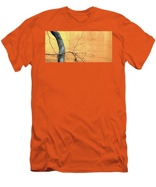 Men's T-Shirt (Slim Fit) featuring the photograph Chagrin River Gold by Bruce Patrick Smith