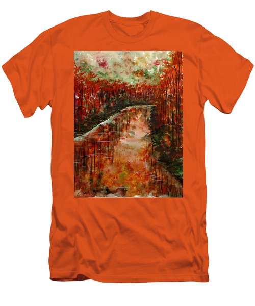 Changing Room Men's T-Shirt (Slim Fit) by Lisa Aerts