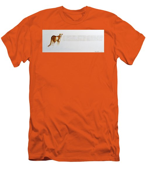 Cheetah And Zebras Men's T-Shirt (Athletic Fit)