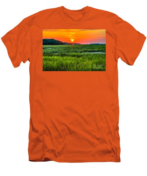 Cherry Grove Marsh Sunrise Men's T-Shirt (Athletic Fit)