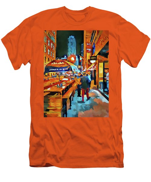 Chicago Night Time Men's T-Shirt (Athletic Fit)