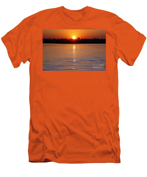 Men's T-Shirt (Slim Fit) featuring the photograph Chobe River Sunset by Myrna Bradshaw