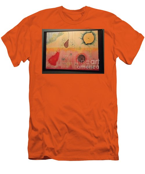 Men's T-Shirt (Slim Fit) featuring the painting Choking by Xn Tyler