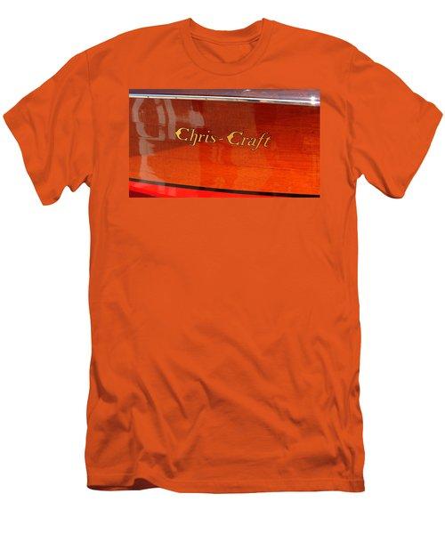 Chris Craft Logo Men's T-Shirt (Slim Fit) by Michelle Calkins