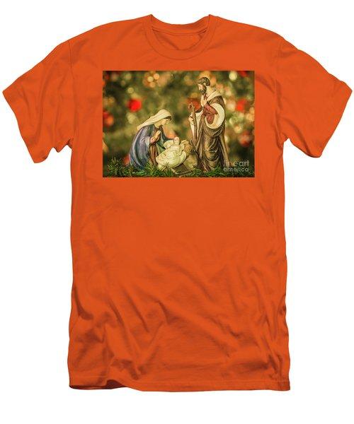 Christmas Nativity Men's T-Shirt (Slim Fit) by John Roberts