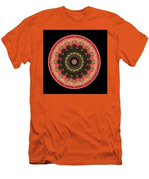 Men's T-Shirt (Slim Fit) featuring the digital art Circularium No 2659 by Alan Bennington