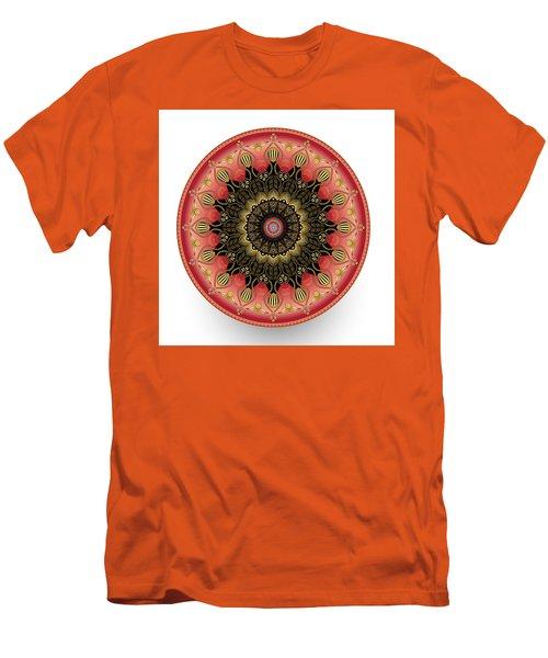 Men's T-Shirt (Slim Fit) featuring the digital art Circularium No 2660 by Alan Bennington