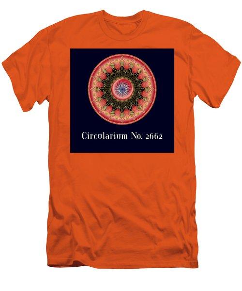 Men's T-Shirt (Slim Fit) featuring the digital art Circularium No 2662 by Alan Bennington