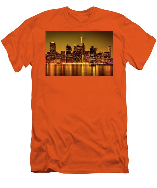 Men's T-Shirt (Slim Fit) featuring the photograph City Of Gold by Chris Lord