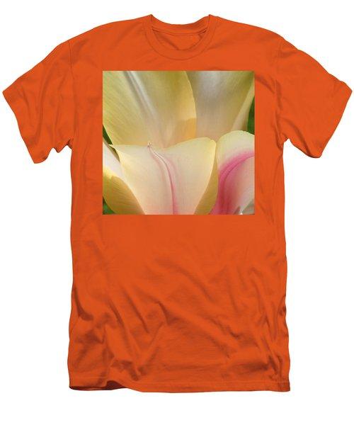 Close-up Tulip Men's T-Shirt (Slim Fit) by Karen Molenaar Terrell