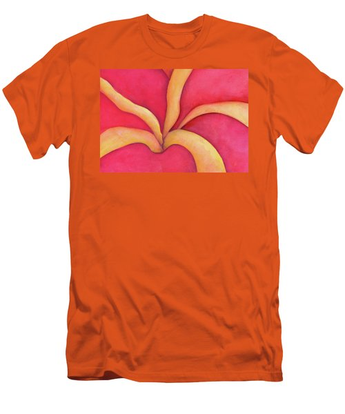 Closeup Of Red Rose Men's T-Shirt (Slim Fit) by Versel Reid