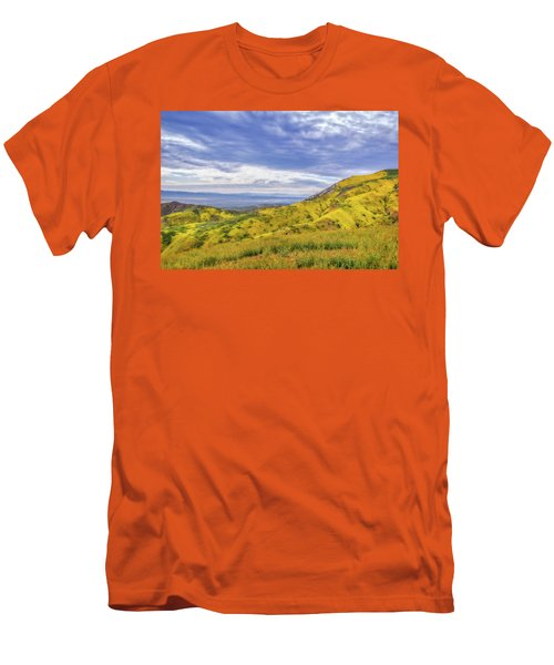 Men's T-Shirt (Slim Fit) featuring the photograph Clouds Above Temblor Range by Marc Crumpler