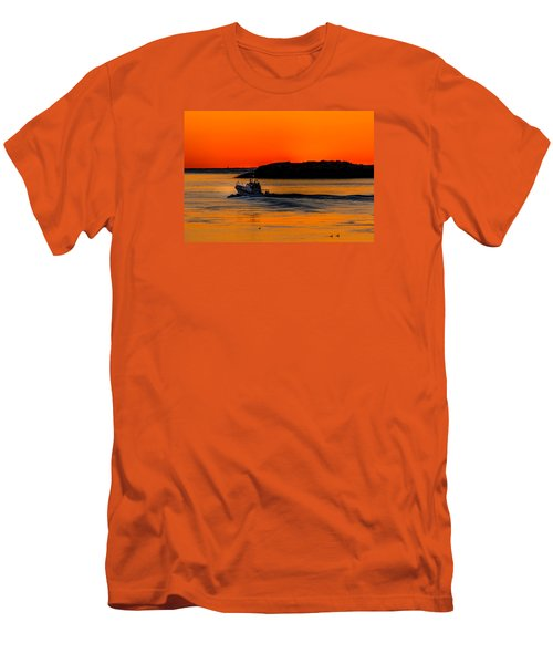 Coast Guard  Men's T-Shirt (Slim Fit) by Jerry Cahill
