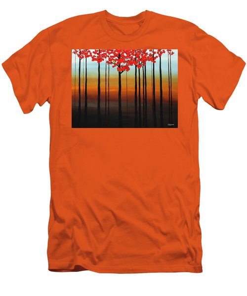 Men's T-Shirt (Slim Fit) featuring the painting Coastal Radiance by Carmen Guedez