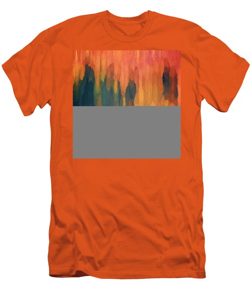 Color Abstraction L Sq Men's T-Shirt (Slim Fit) by David Gordon