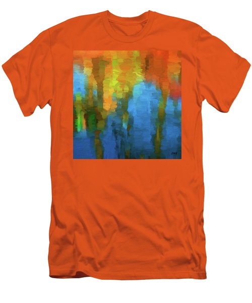 Color Abstraction Xxxi Men's T-Shirt (Slim Fit) by David Gordon