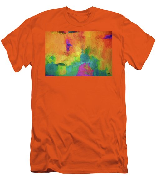 Color Abstraction Xxxiv Men's T-Shirt (Slim Fit) by David Gordon
