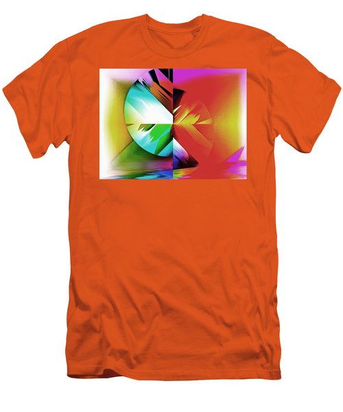 Color Of The Fractal Men's T-Shirt (Slim Fit) by Mario Carini