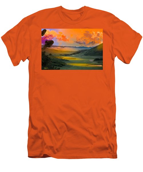 Colorado Big Valley Sunrise Men's T-Shirt (Athletic Fit)