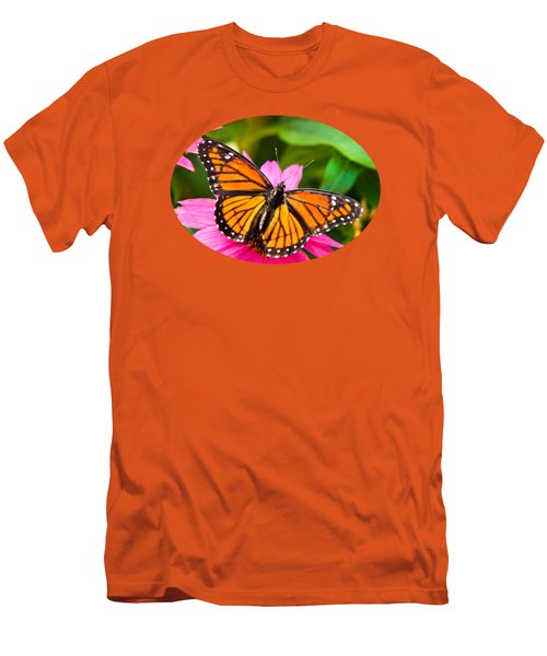 Colorful Butterflies - Orange Viceroy Butterfly Men's T-Shirt (Slim Fit)