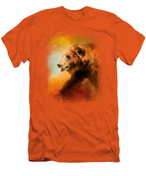 Colorful Expressions Grizzly Bear Men's T-Shirt (Slim Fit) by Jai Johnson